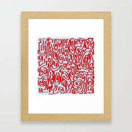 Blue red Framed Art Print
