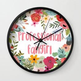 Professional Fangirl Wall Clock