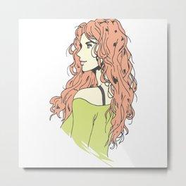 beautifull anime girl Metal Print