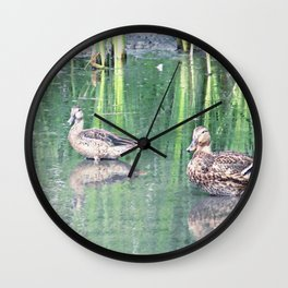 Two Ducks Wall Clock
