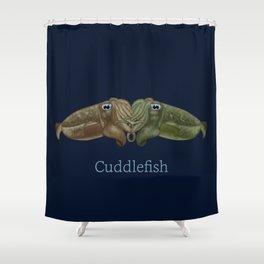 Cuddlefish - Cuttlefish Cuddling Shower Curtain