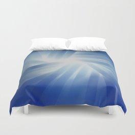 Blue Streaks of Light Duvet Cover