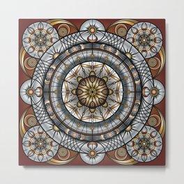 The Mandala Machine Metal Print