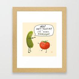 Very Picklish Framed Art Print