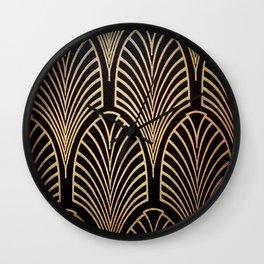 Art nouveau Black,bronze,gold,art deco,vintage,elegant,chic,belle époque Wall Clock