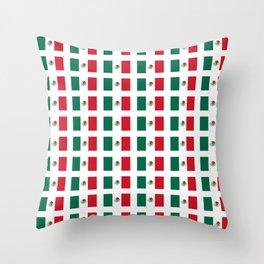 Flag of mexico 3 - mexico,mexico city,mexicano,mexicana,latine,peso,spain,Guadalajara,Monterrey Throw Pillow