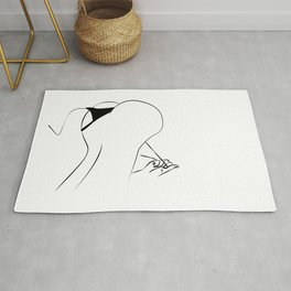 Lady Stripping Down, Nude Art Print, Woman sliding panny Wall Art, Printable Modern Decor, Rug