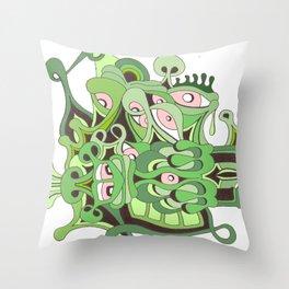 reptilian retina Throw Pillow