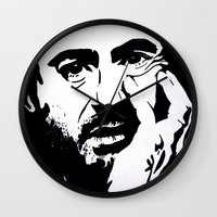 robert downey jr Wall Clocks featuring Robert Downey Jr by Olivia Iman