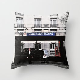Marble Arch Station, London Throw Pillow
