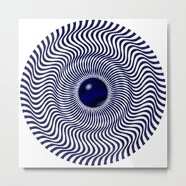 Illusion blue Metal Print