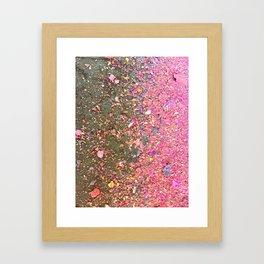 Confetti Chalk Dust Unicorn Framed Art Print