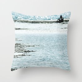 Sdot Yam beach Throw Pillow