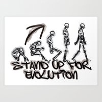 evolution Art Prints featuring EVOLUTION by AURA-HYSTERICA