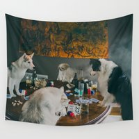 poker Wall Tapestries featuring Poker Night by Encompass Studio