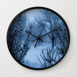 Foggy Winter Solstice Wall Clock