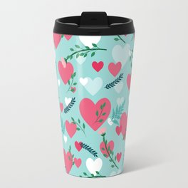 Valentine's blue pattern Travel Mug