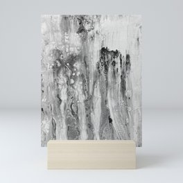 Drizzle in Black Mini Art Print