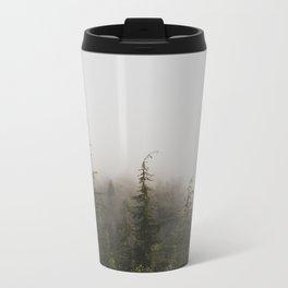 Foggy Forest Metal Travel Mug