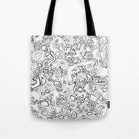acid Tote Bags featuring Acid by Danielle Quackenbush