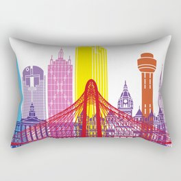 Dallas skyline pop Rectangular Pillow