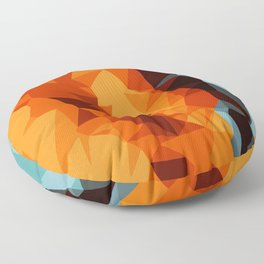 green blue brown orange and yellow abstract background Floor Pillow