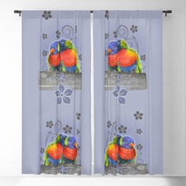 Two lorikeets in love Blackout Curtain