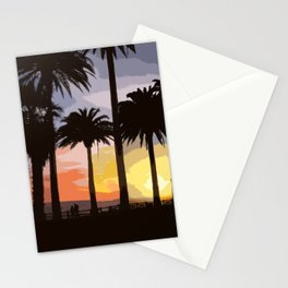 Sunset at Palisades Park Stationery Cards