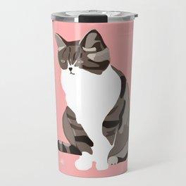 A Pink Cat Travel Mug