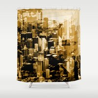 chicago Shower Curtains featuring Chicago by DM Davis