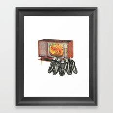 Shop while you eat Framed Art Print