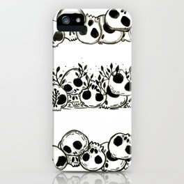 several piles of skulls iPhone Case