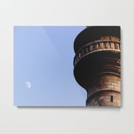 Moon over Damascus Metal Print