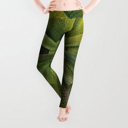 Geometric Green Burst Leggings
