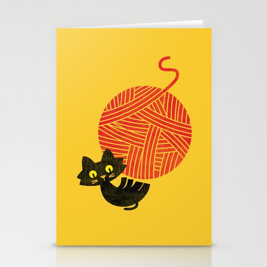 Fitz - Happiness (cat and yarn) Stationery Cards