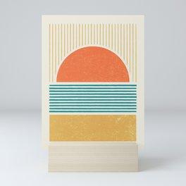 Sun Beach Stripes - Mid Century Modern Abstract Mini Art Print