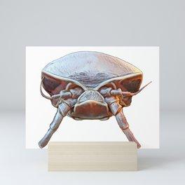 Isopod Face Malacostraca Storm Assault Helmet Science Fiction Mini Art Print