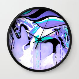 Flying Lavender Horse Wall Clock