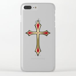 Christian cross Clear iPhone Case
