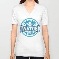 iwatobi V-neck T-shirts featuring Iwatobi Team Logo by Cup of June