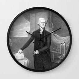 Thomas Jefferson Wall Clock