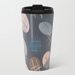 Comb and hand-mirror abstract with dark background Travel Mug