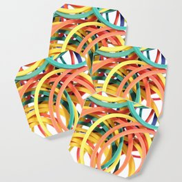 Many Colored Scattered Stationery Rubbers Coaster