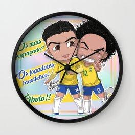 Jogadores Brasileiros Wall Clock