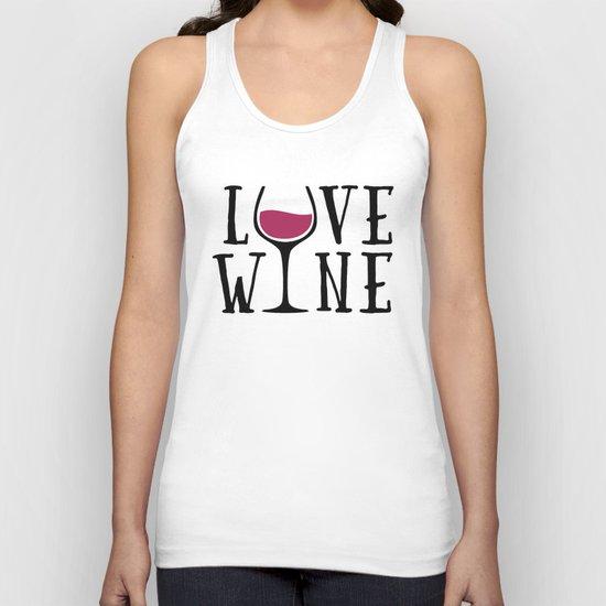 Love Wine Quote Unisex Tank Top