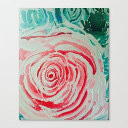 Where the Pink Roses Grow, Summer is Ending and Romantic Fall Nights are Here Canvas Print