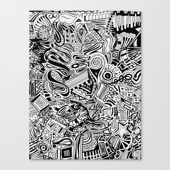 Inky \\ Canvas Print