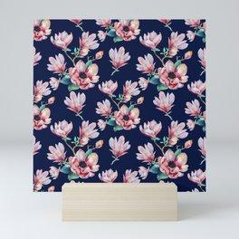 Romantic Floral Seamles Pattern 2 Mini Art Print