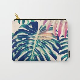 Colorful Tropical Leaves Carry-All Pouch