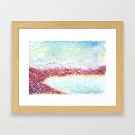 Paradise Watercolor Art Illustration. Framed Art Print